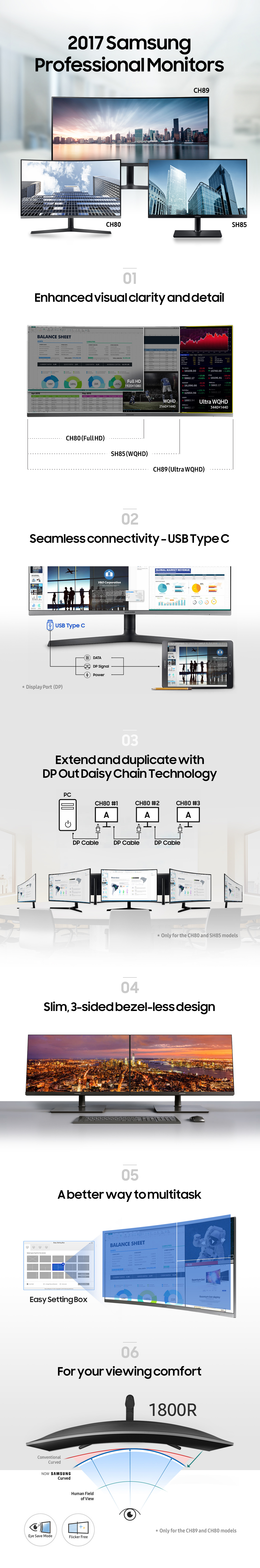 [Infographic] Samsung's New Professional Monitors for the Modern Workplace