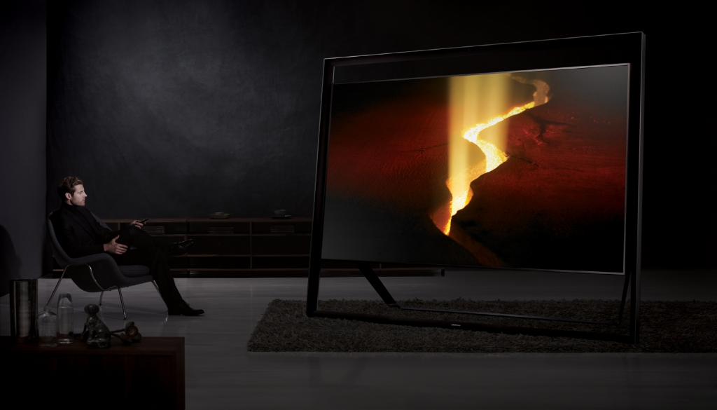 Samsung Showcases 85-inch Largest UHD TV with Innovative Design