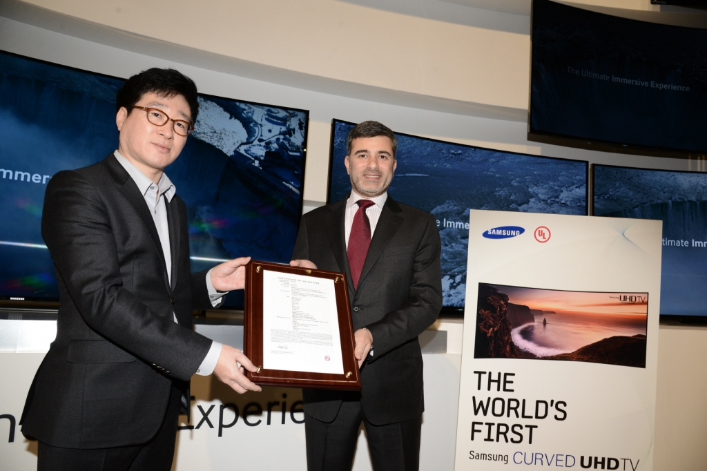 Samsung Curved UHD TV Certified for Its Picture Quality the Very First Time