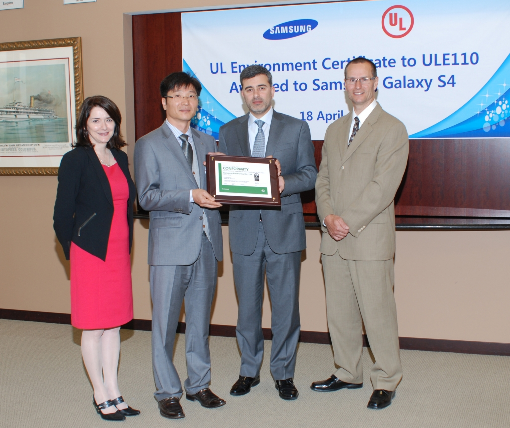 Samsung GALAXY S4 Gets Green Phone Certificates