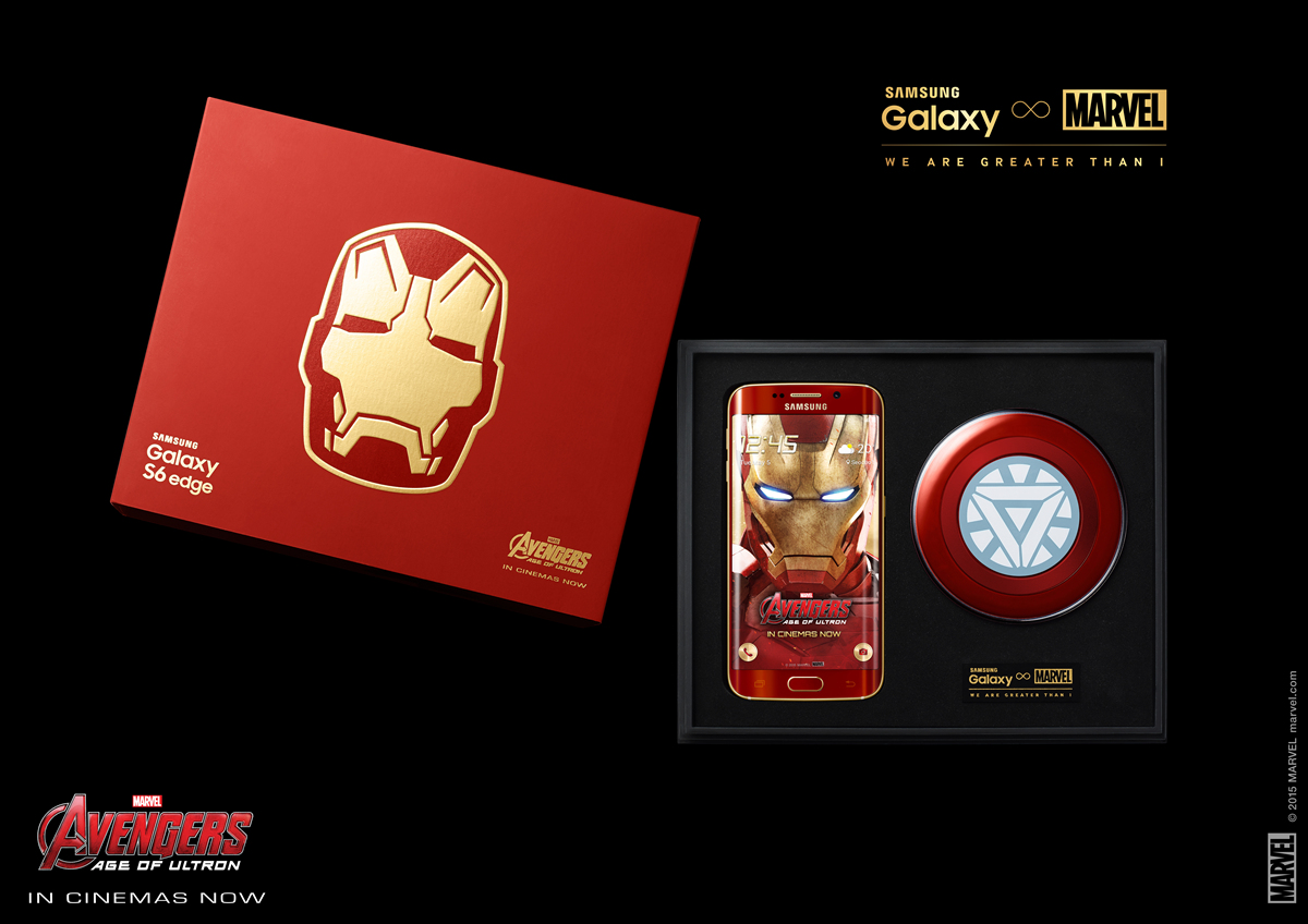 Samsung galaxy s6 edge iron man limited edition officially introduced.