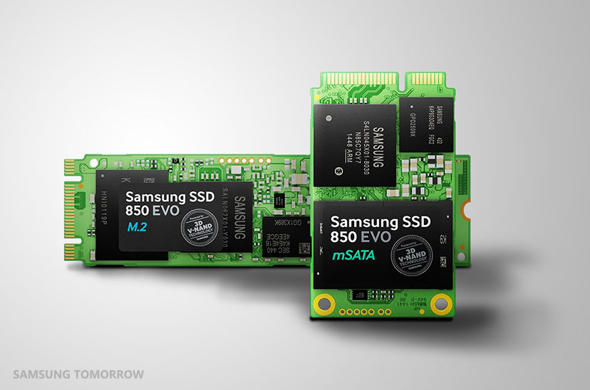 Samsung Electronics Introduces Lineup of 3-bit V-NAND Based 850 EVO SSDs for Ultrathin PCs