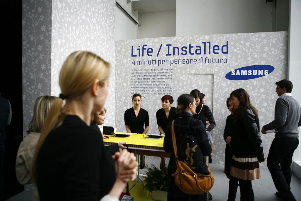 Samsung's Special Salon at Milan Furniture Fair 2012