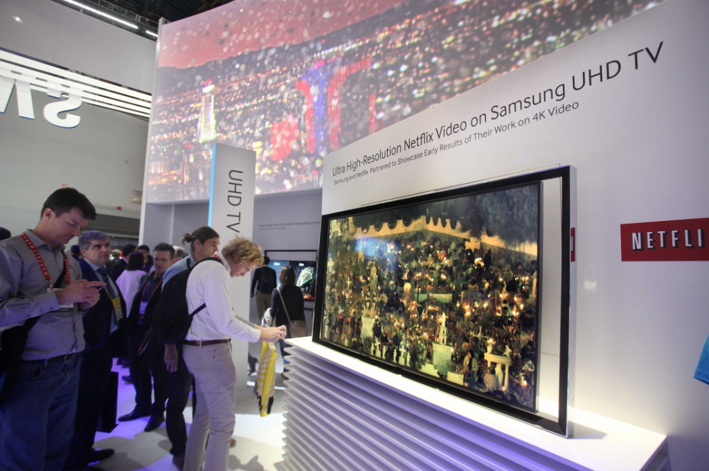 A Peek inside the Samsung Booth on the Opening Day of CES 2013