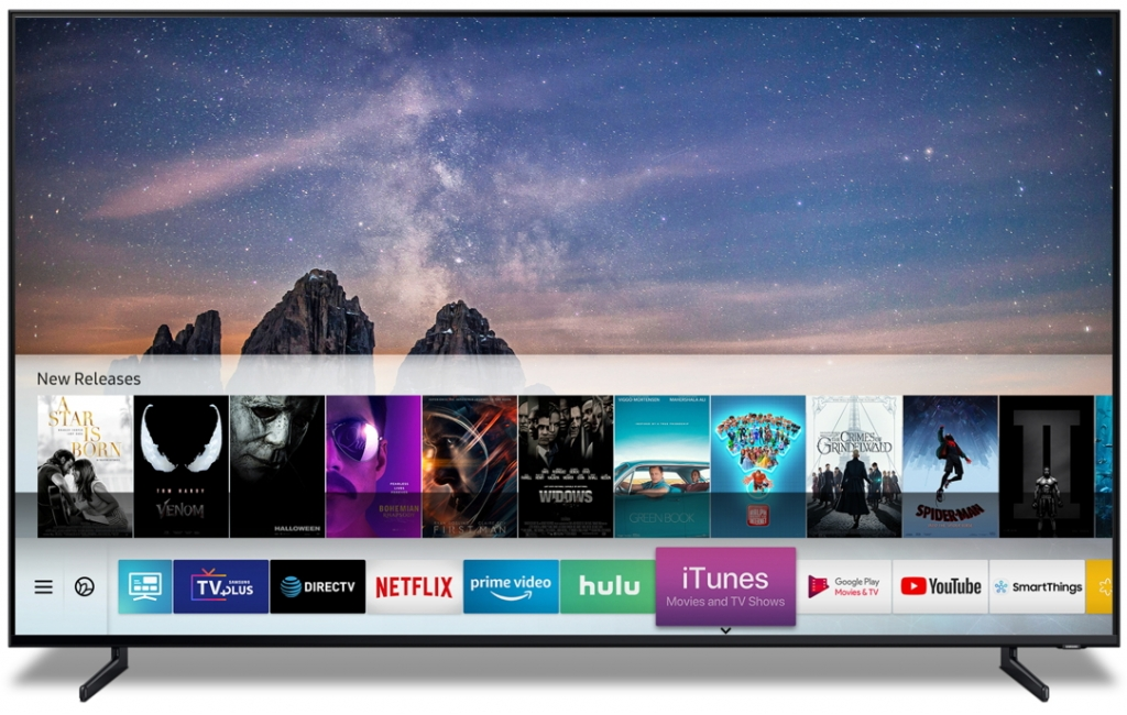 Samsung Smart TVs to Launch iTunes Movies & TV Shows and Support AirPlay 2 Beginning Spring 2019
