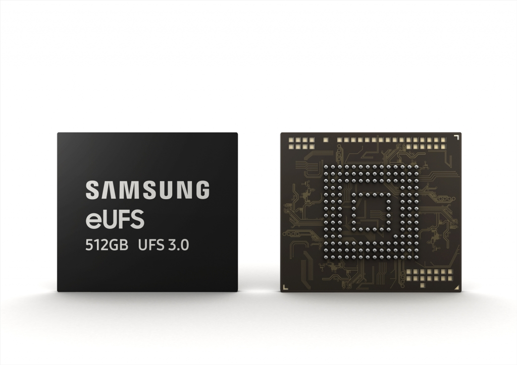 Samsung Electronics Doubling Current Smartphone Storage Speed as it Begins Mass Production of First 512GB eUFS 3.0