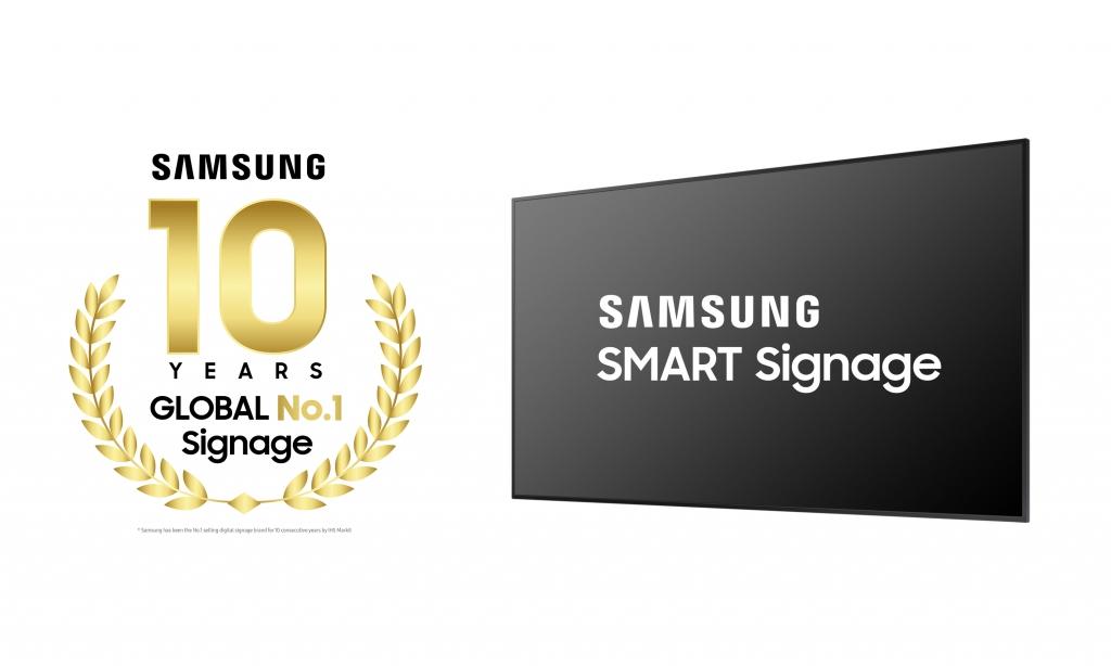 Samsung Marks Decade as Global Leader in Digital Signage
