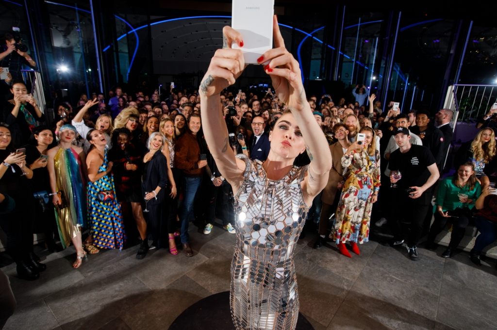 Cara Delevingne and Samsung Unveil the World's First Selfie Sent into Space at Star-studded Event in London