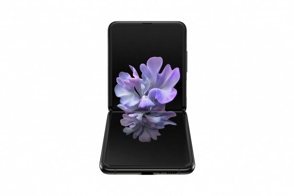 galaxy z flip_mirror black_front table top
