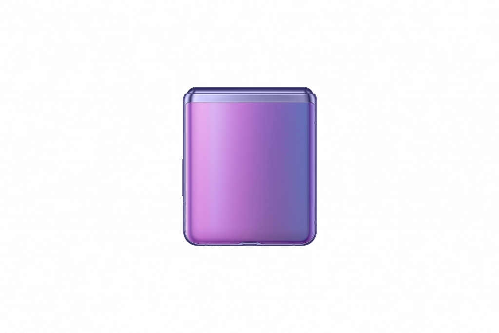 galaxy z flip_mirror purple_closed back