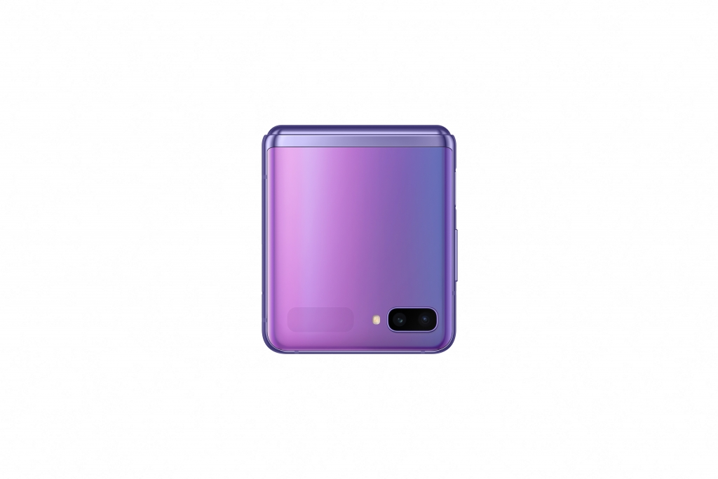 galaxy z flip_mirror purple_closed front