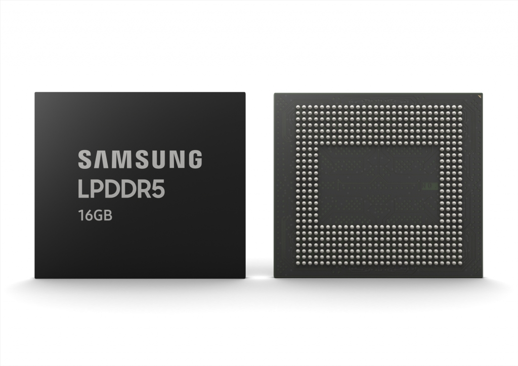 Samsung Begins Mass Production of Industry's First 16GB LPDDR5 DRAM for Next-Generation Premium Smartphones