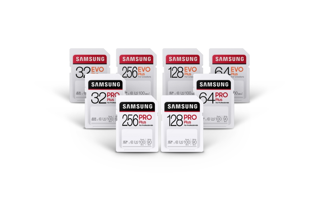 Samsung Introduces PRO Plus and EVO Plus SD Cards for Content Creators and Photo Enthusiasts