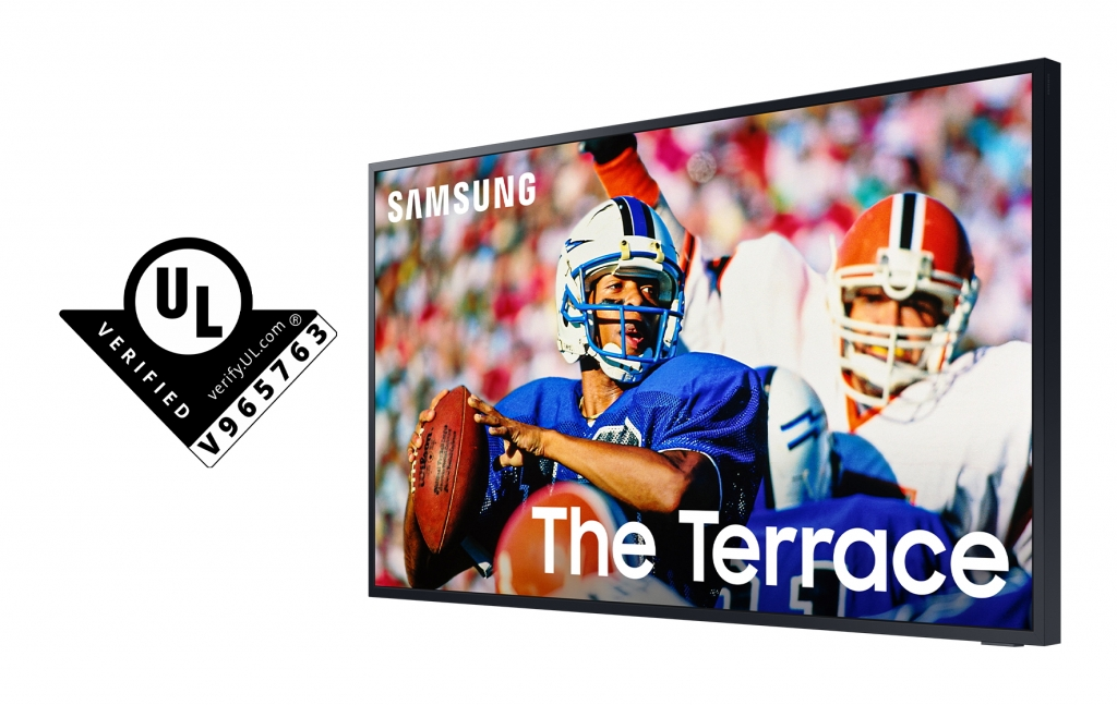 Samsung's The Terrace TV Receives Industry-First Outdoor Visibility Verification From UL