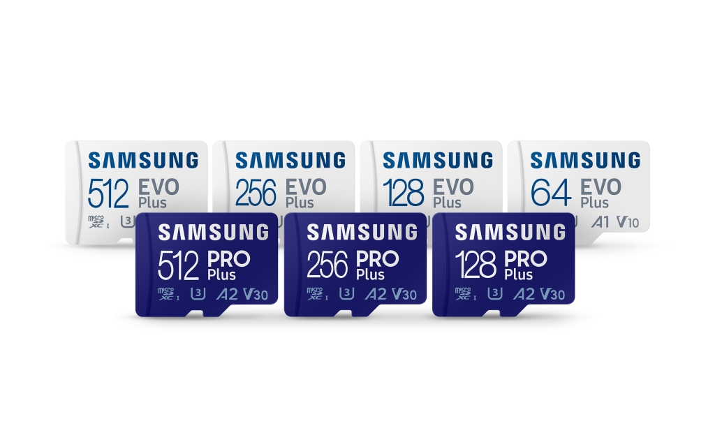 Samsung Introduces Fast and Durable PRO Plus and Enhanced EVO Plus MicroSD Cards for Day-to-Day Users and Professionals