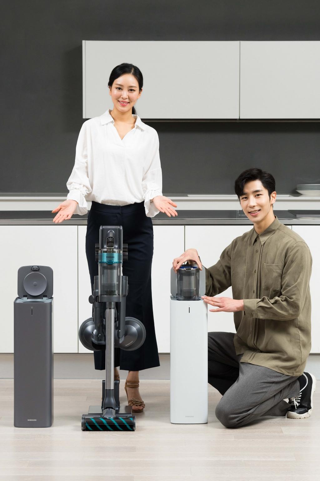 삼성전자, 2020년형 무선 청소기 '제트' 공개, '청정스테이션' 첫선
