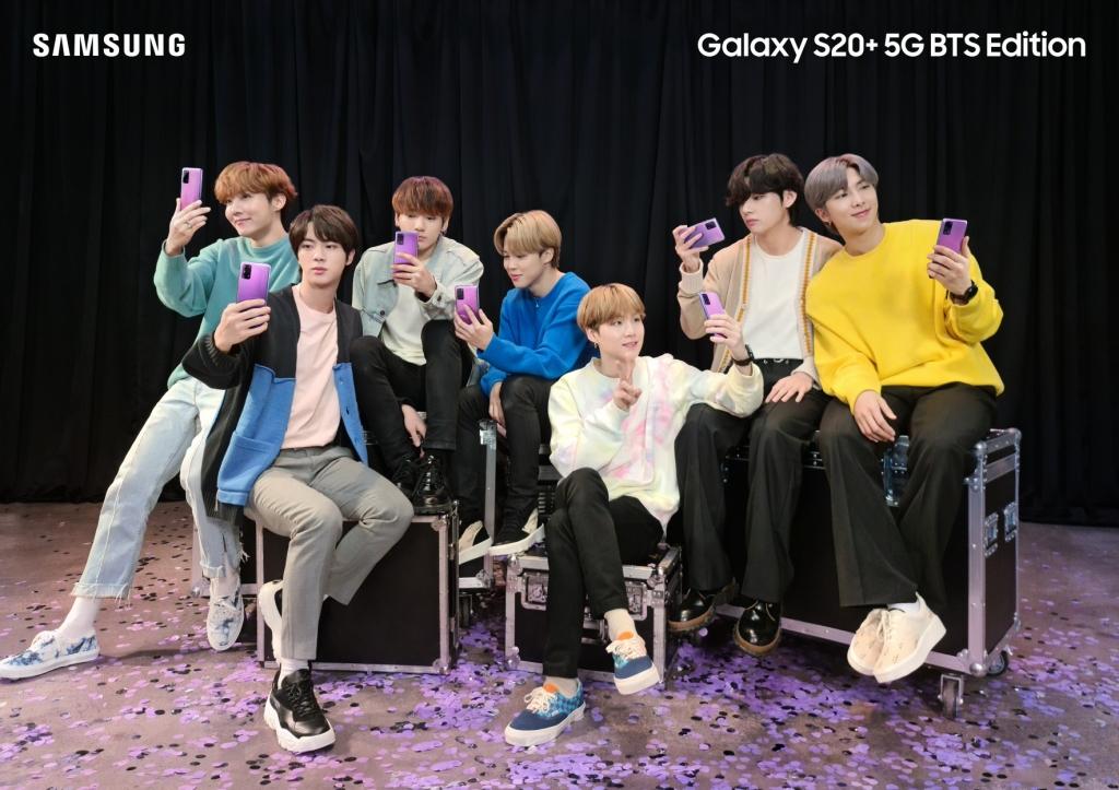 삼성전자-방탄소년단(BTS), '갤럭시 S20+ BTS 에디션' 공개