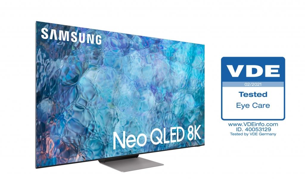 삼성 'Neo QLED', TV 업계 최초 독일 VDE '아이 케어' 인증 획득