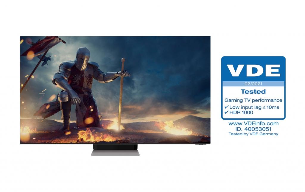 삼성 'Neo QLED', 업계 최초 독일 VDE '게이밍 TV 성능' 인증 획득