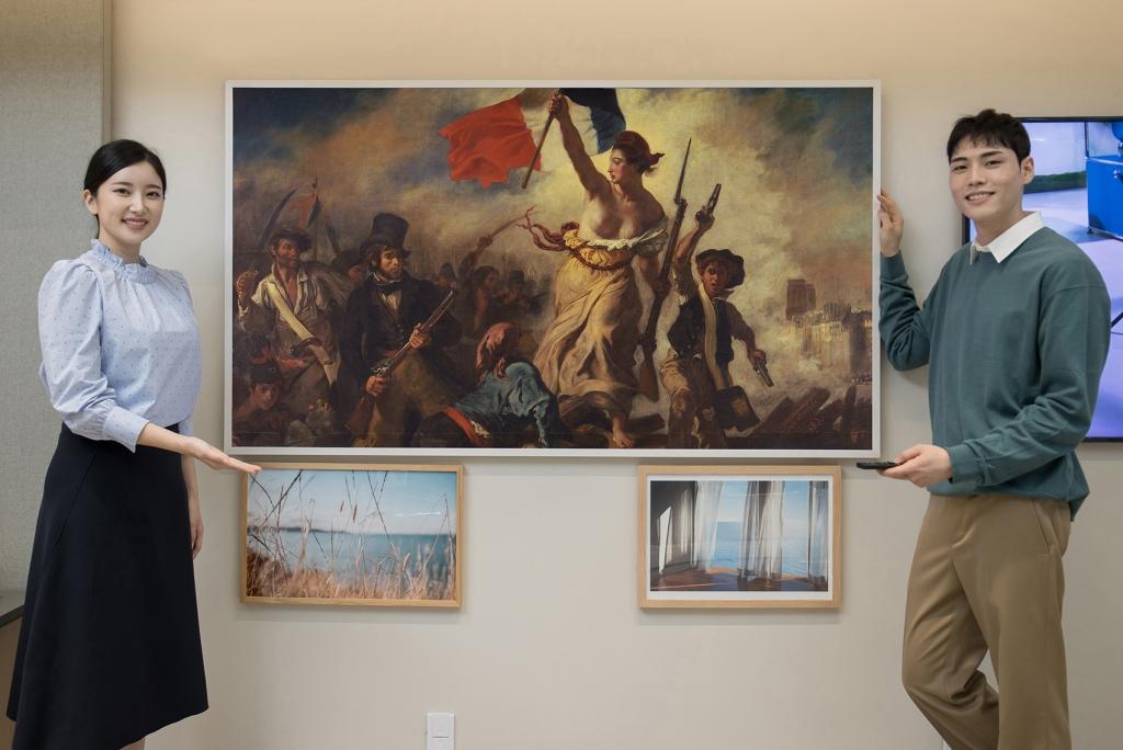 삼성 '더 프레임'으로 모나리자 감상한다… 루브르 박물관과 파트너십 체결